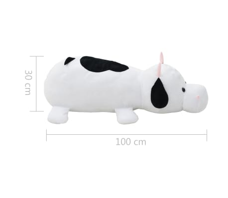 vidaXL Vache en peluche Blanc et Noir[5/5]