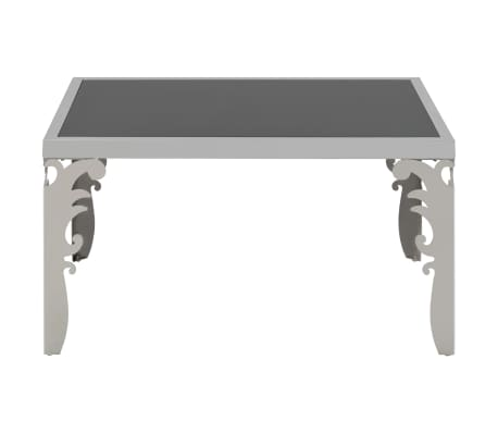 vidaXL Mirrored Coffee Table Stainless Steel and Glass 80x60x44 cm[3/6]