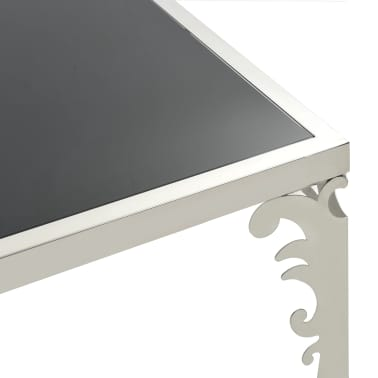 vidaXL Mirrored Coffee Table Stainless Steel and Glass 80x60x44 cm[5/6]