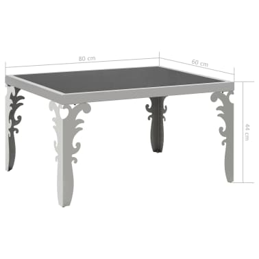 vidaXL Mirrored Coffee Table Stainless Steel and Glass 80x60x44 cm[6/6]