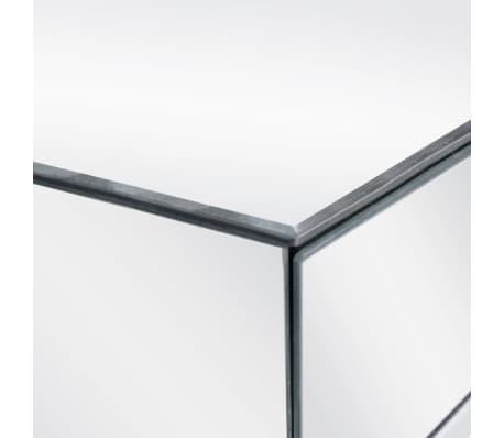 vidaXL Tavolo Consolle Acciaio e Vetro Specchiato 107x33x77cm Tavolino Salotto