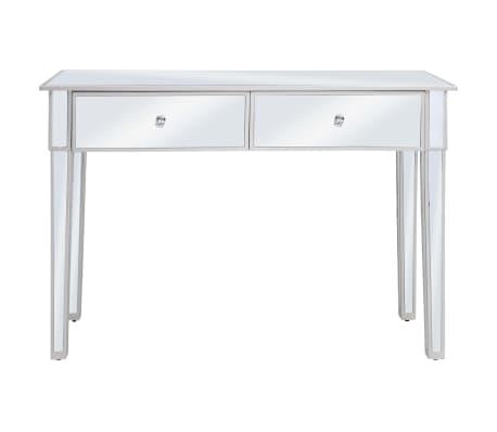 vidaXL Veidrodinis konsolinis staliukas, MDF ir stik., 106,5x38x76,5cm[3/8]