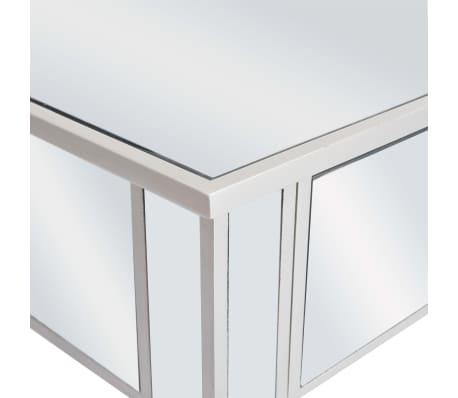 vidaXL Veidrodinis konsolinis staliukas, MDF ir stik., 106,5x38x76,5cm[6/8]