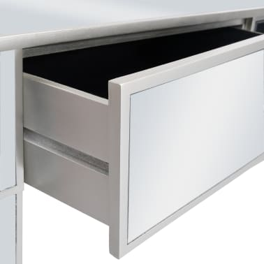 vidaXL Veidrodinis konsolinis staliukas, MDF ir stik., 106,5x38x76,5cm[7/8]