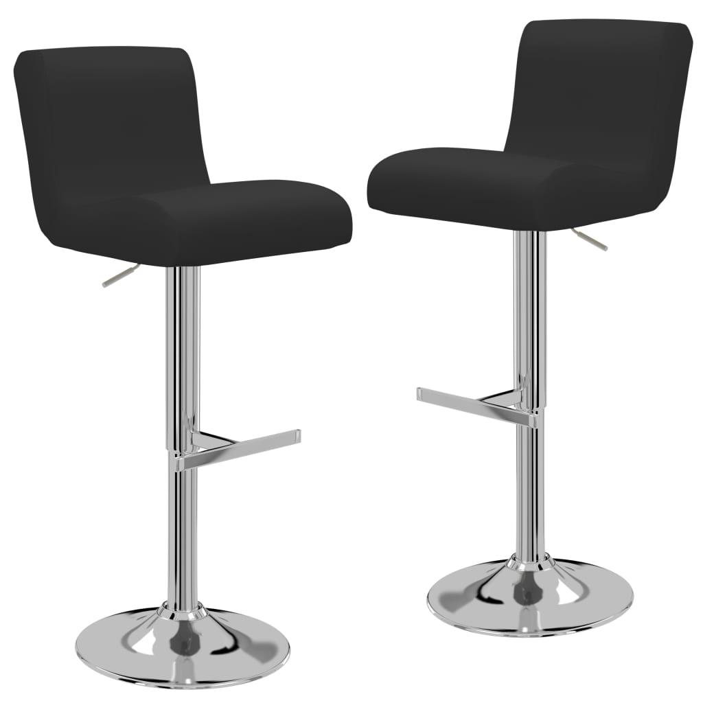 vidaXL Καρέκλες Μπαρ 2 τεμ. Μαύρες από Συνθετικό Δέρμα