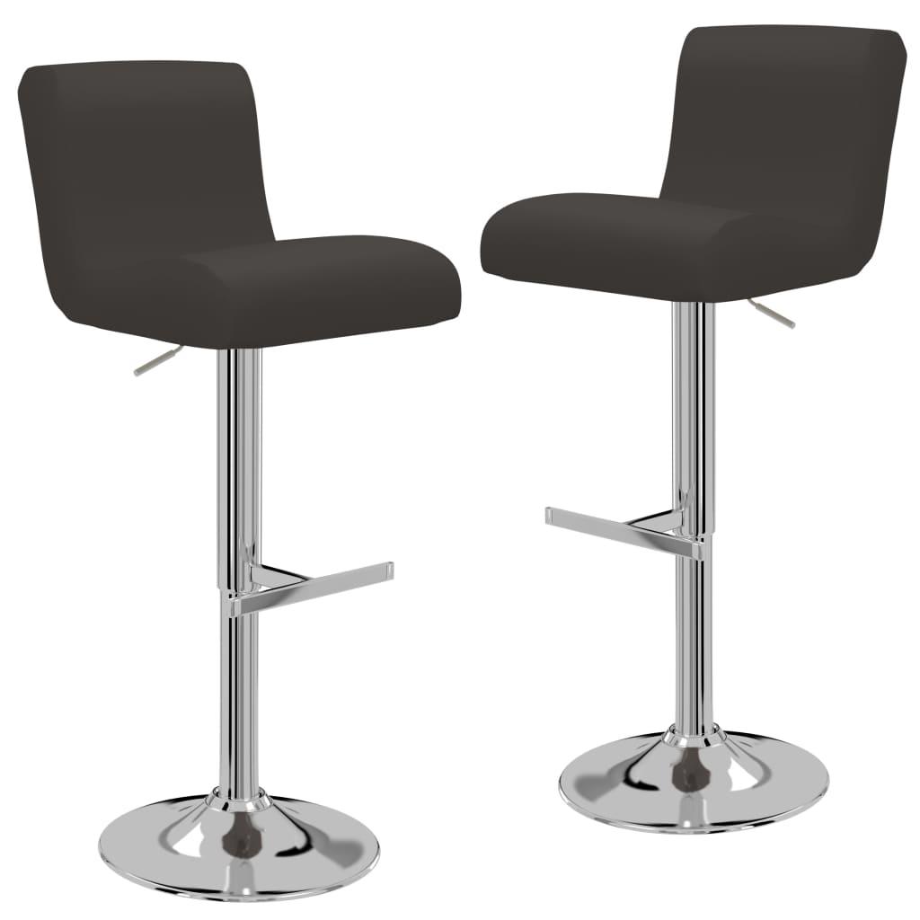 vidaXL Barové židle z umělé kůže 2 ks hnědé