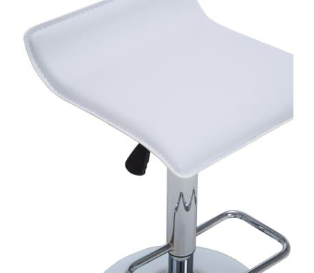 vidaXL Barové stoličky 2 ks, umelá koža, biele[7/9]