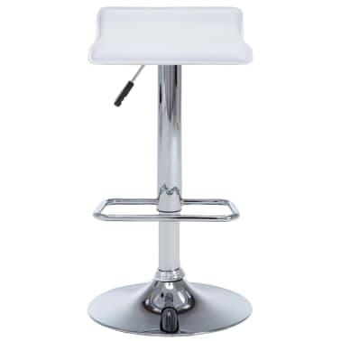 vidaXL Barové stoličky 2 ks, umelá koža, biele[4/9]