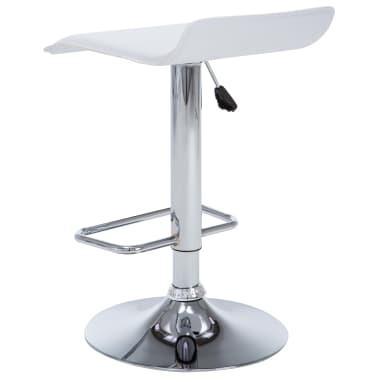 vidaXL Barové stoličky 2 ks, umelá koža, biele[5/9]