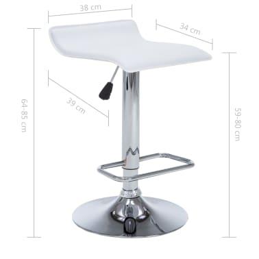 vidaXL Barové stoličky 2 ks, umelá koža, biele[9/9]