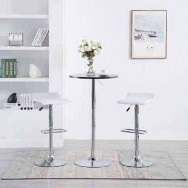 vidaXL Barové stoličky 2 ks, umelá koža, biele[1/9]