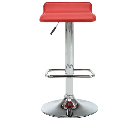 vidaXL Tabourets de bar 2 pcs Rouge Similicuir[4/10]