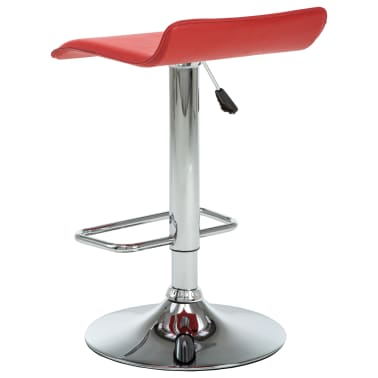 vidaXL Tabourets de bar 2 pcs Rouge Similicuir[5/10]