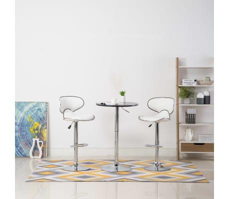 Detalles de vidaXL 2x Taburetes de Barra Modernos Plástico Negro Sillas  Altas Bar Cocina