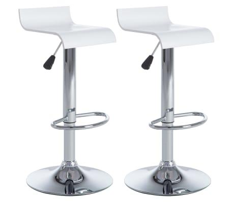 vidaXL Barové stoličky 2 ks bílé[2/9]
