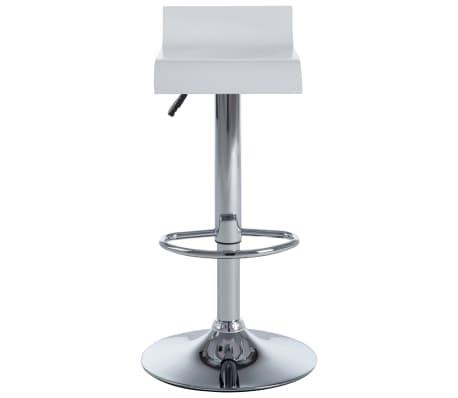 vidaXL Barové stoličky 2 ks bílé[4/9]