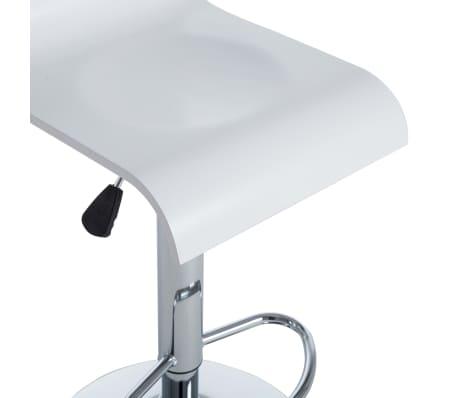 vidaXL Barové stoličky 2 ks bílé[7/9]