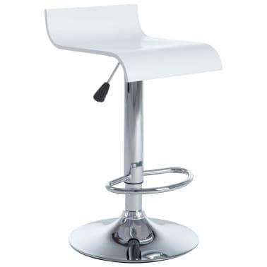 vidaXL Barové stoličky 2 ks bílé[3/9]