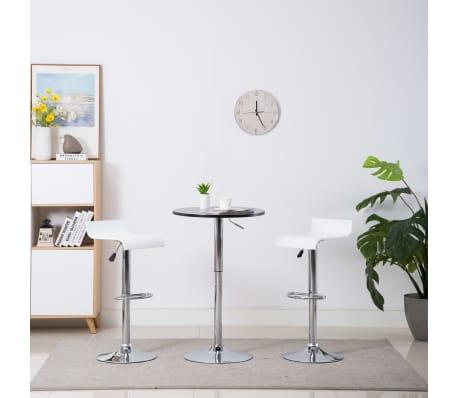 vidaXL Barové stoličky 2 ks bílé[1/9]