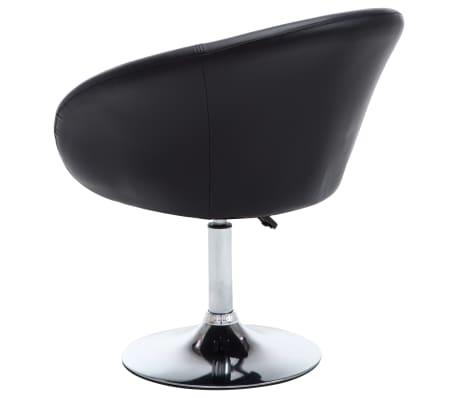 vidaXL Otočná jedálenská stolička, umelá koža 67,5x58,5x87 cm, čierna[4/9]