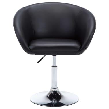 vidaXL Otočná jedálenská stolička, umelá koža 67,5x58,5x87 cm, čierna[3/9]
