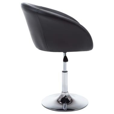 vidaXL Otočná jedálenská stolička, umelá koža 67,5x58,5x87 cm, čierna[5/9]