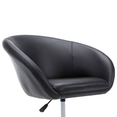 vidaXL Otočná jedálenská stolička, umelá koža 67,5x58,5x87 cm, čierna[7/9]