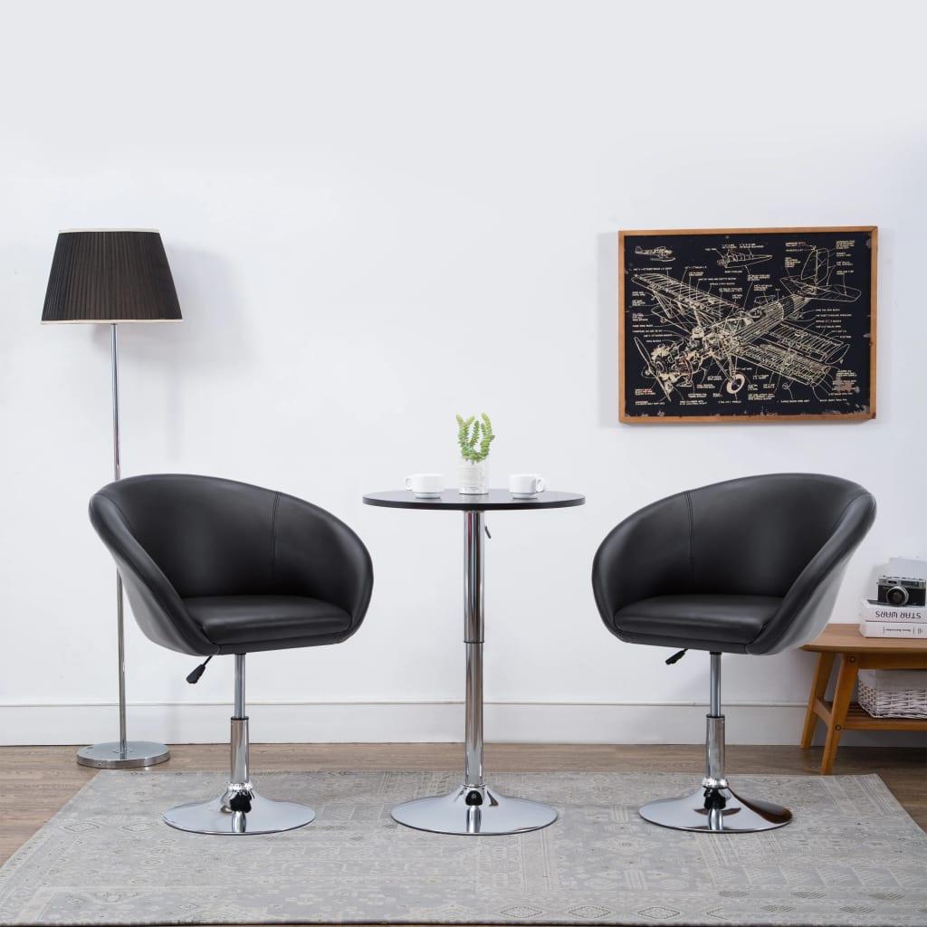 vidaXL Otočná jídelní židle z umělé kůže 67,5 x 58,5 x 87 cm černá