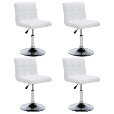 vidaXL Otočné jídelní židle z umělé kůže 4 ks 50 x 43 x 85 cm bílé[1/9]