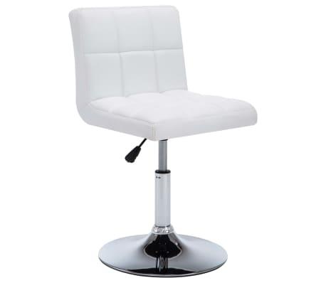 vidaXL Otočné jídelní židle z umělé kůže 4 ks 50 x 43 x 85 cm bílé[2/9]