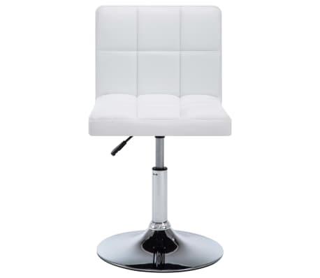 vidaXL Otočné jídelní židle z umělé kůže 4 ks 50 x 43 x 85 cm bílé[3/9]