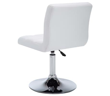 vidaXL Otočné jídelní židle z umělé kůže 4 ks 50 x 43 x 85 cm bílé[4/9]