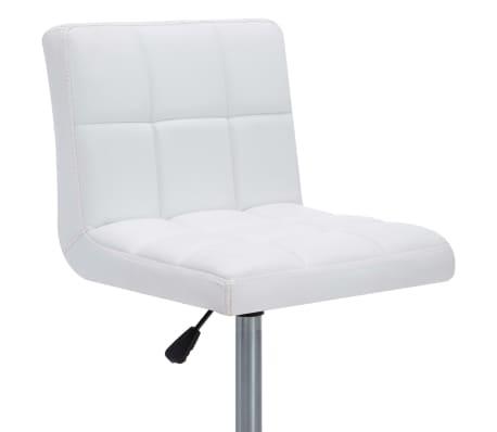 vidaXL Otočné jídelní židle z umělé kůže 4 ks 50 x 43 x 85 cm bílé[7/9]