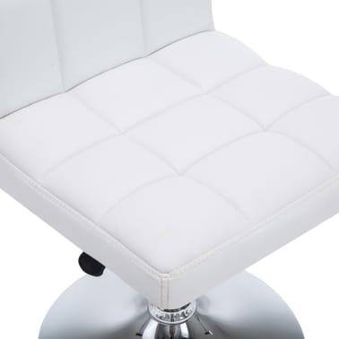 vidaXL Otočné jídelní židle z umělé kůže 4 ks 50 x 43 x 85 cm bílé[8/9]