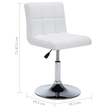 vidaXL Otočné jídelní židle z umělé kůže 4 ks 50 x 43 x 85 cm bílé[9/9]