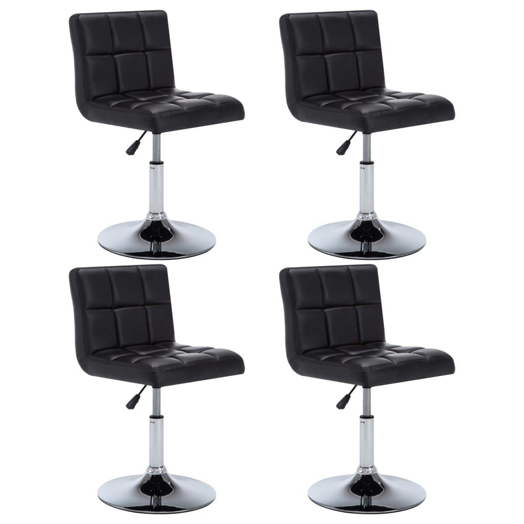 vidaXL Otočné jídelní židle z umělé kůže 4 ks 50 x 43 x 85 cm černé