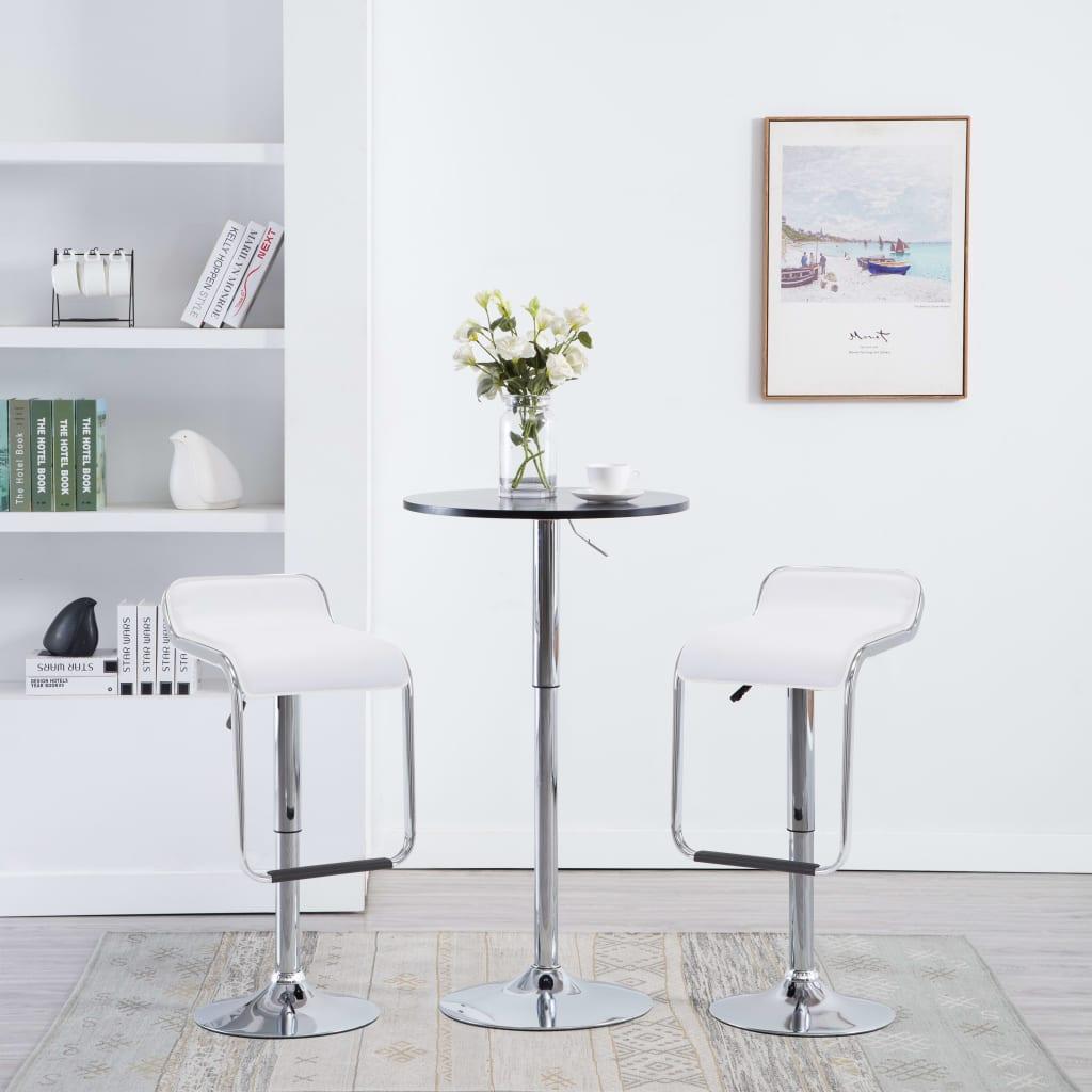 vidaXL Barkrukken draaibaar 34,5x50,5x89 cm kunstleer wit 2 st