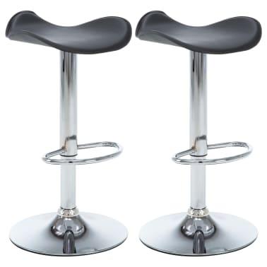 acheter vidaxl tabouret de bar pivotant 2 pcs similicuir. Black Bedroom Furniture Sets. Home Design Ideas