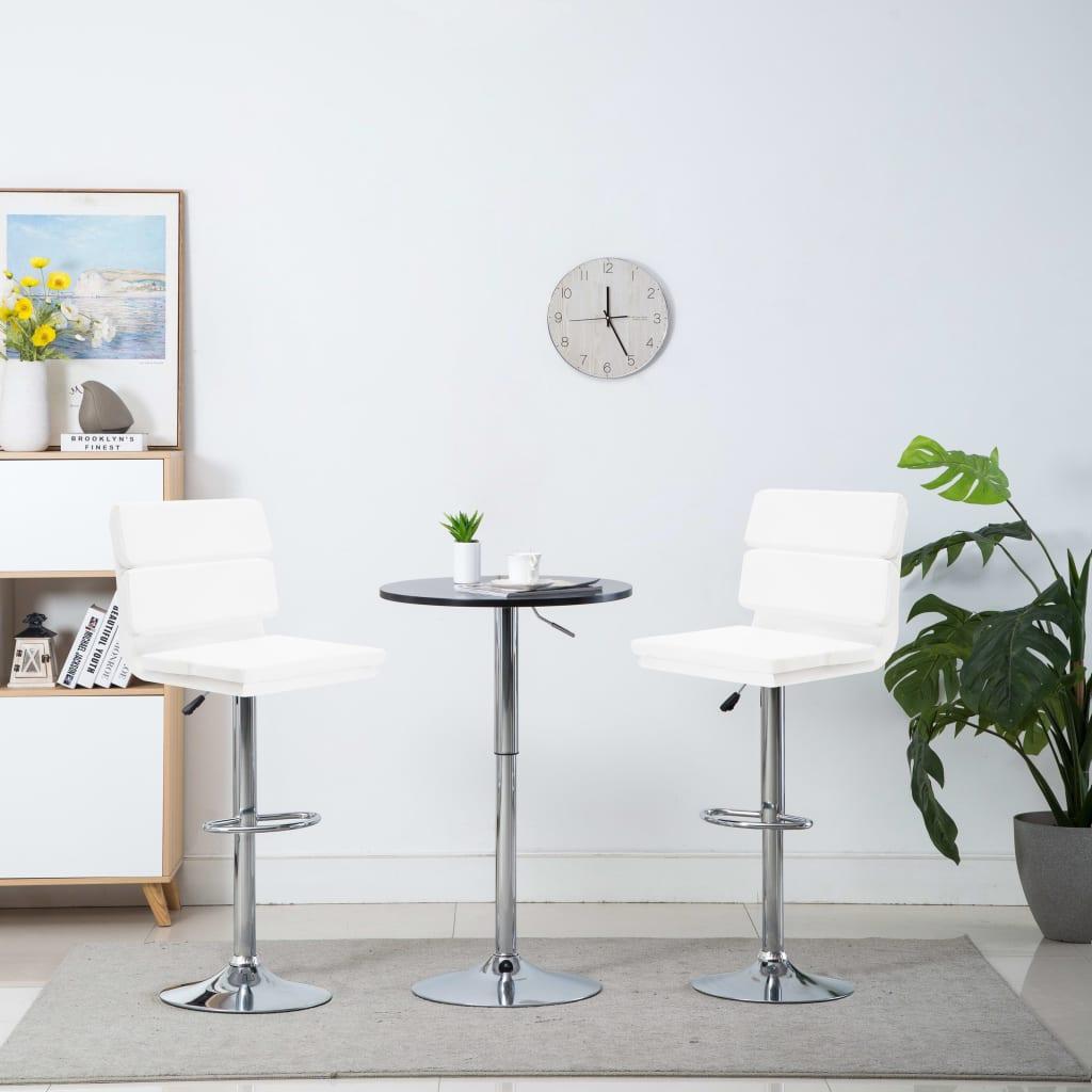 vidaXL Otočné barové židle z umělé kůže 2 ks 44 x 50 x 114 cm bílé