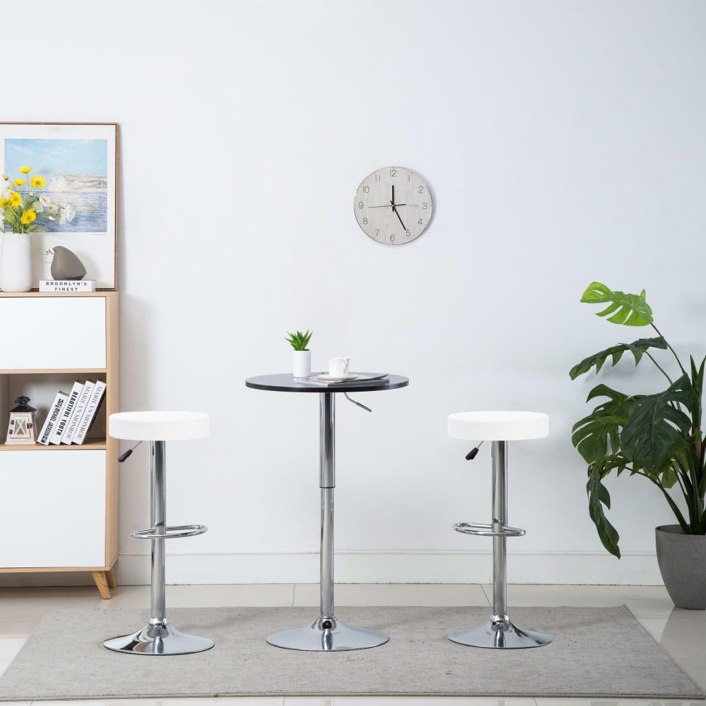 vidaXL Otočné barové stoličky 2 ks bílé umělá kůže