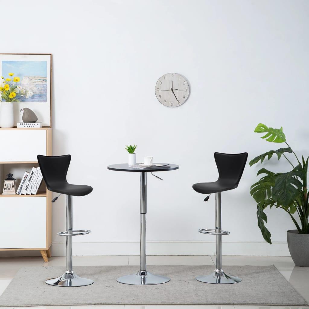 vidaXL Otočné barové židle 2 ks z umělé kůže 40 x 47 x 105 cm černé