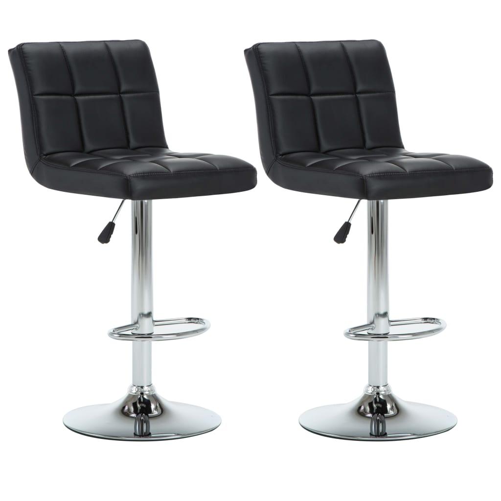 vidaXL Otočné barové židle 2 ks z umělé kůže 44 x 50 x 115 cm