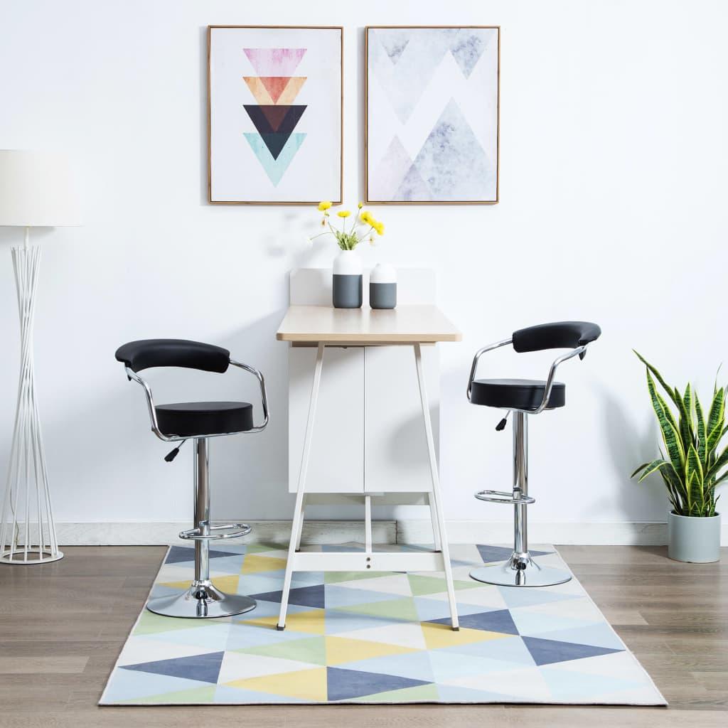 vidaXL Otočné barové židle z umělé kůže 2 ks 52 x 51 x 106 cm černé