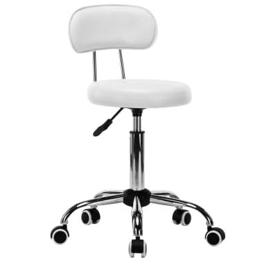 vidaXL Besisukančios salono, spa kėdės, 2vnt., dirbtinė oda, baltos[2/8]