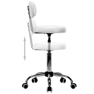 vidaXL Besisukančios salono, spa kėdės, 2vnt., dirbtinė oda, baltos[5/8]