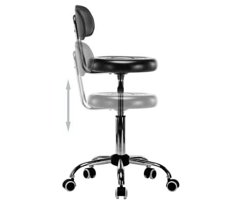 vidaXL Vrtljivi salonski spa stolčki 2 kosa umetno usnje črne barve[5/8]