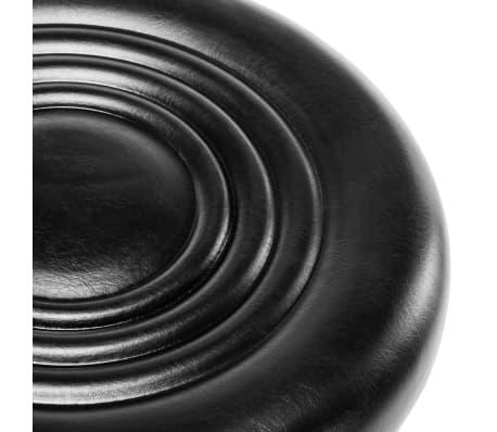 vidaXL Vrtljivi salonski spa stolčki 2 kosa umetno usnje črne barve[6/8]