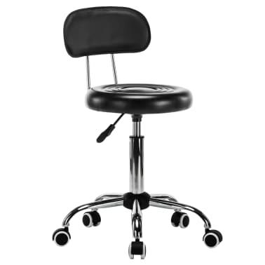 vidaXL Vrtljivi salonski spa stolčki 2 kosa umetno usnje črne barve[2/8]
