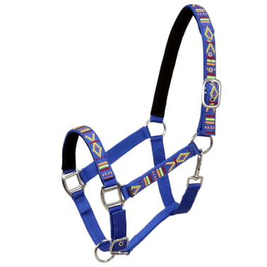vidaXL Hoofdstellen voor paard maat full nylon blauw 2 st[2/5]