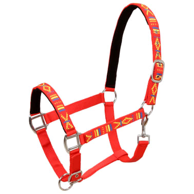 vidaXL Hoofdstellen voor paard maat pony nylon rood 2 st[2/5]